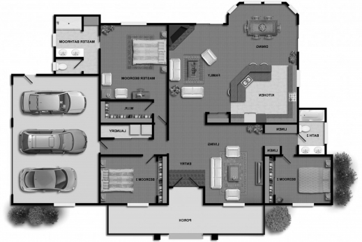 Amazing 1000 Images About Home Design On Pinterest Home Architect Searching For Three Bedroom Plan Image