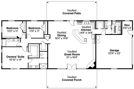 Amazing 1000 Images About House Plans On Pinterest Floor Plans House Simple Ranch House Plans 3 Bedroom Images
