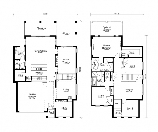 Amazing 4 bedroom house designs perth double storey apg for Simple two story floor plans