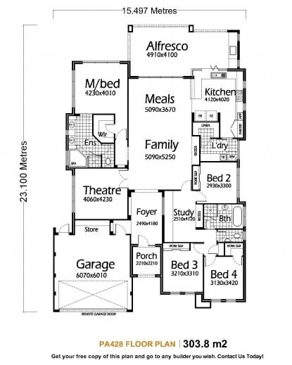 Amazing Metal Building Homes Floor Plans Single Storey House Plans Pa428 Home Plan Single Picture