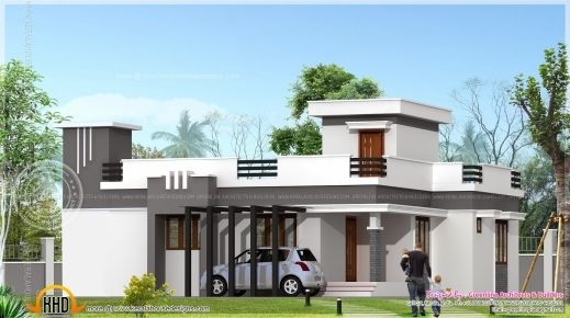 Amazing Small Contemporary Home In 1200 Sq Feet Indian House Plans 1200 Sq Ft Single Floor House Plans Photo