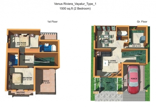 1500 sq ft house plans india house floor plans for Small bungalow house plans in india