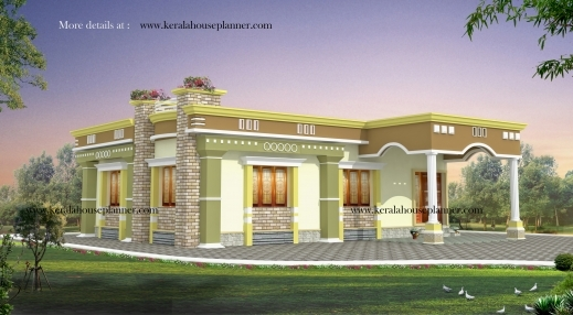 Awesome Kerala House Plans 1200 Sq Ft With Photos Khp 700sqft Kerala Traditional House Plan With Staircase Poojamuri Pics