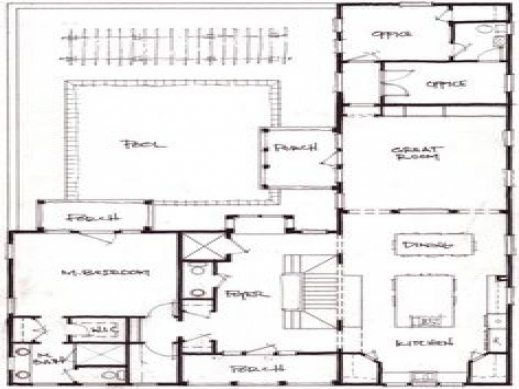 Remarkable L Shaped House Plans With Attached Garage Shaped Room