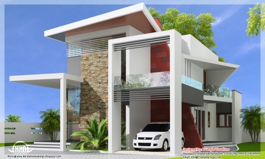 Awesome Luxurious Trendy House 2307 Sqft Kerala Home Design And New Stylish Floor Plan And Elevation Image