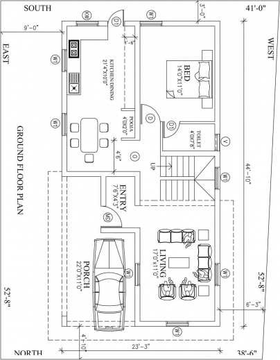 Awesome North Facing House Vastu Plan The Site Is 30x45 North Face Home Plan North Pic