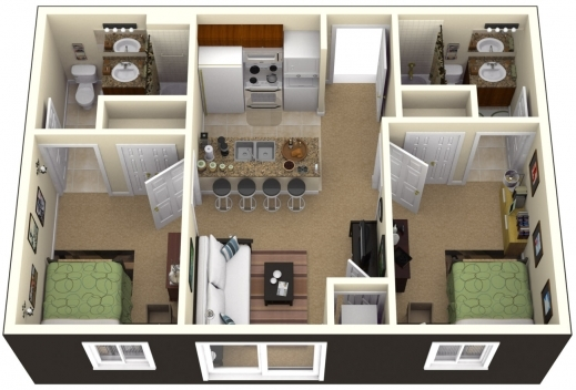 Best 1000 Images About Floor Plans On Pinterest House Plans Two Simple House Plan With 2 Bedrooms Pictures