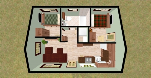 Best 2 Bedroom 2 Bath House Plans Nitrofocusfacts Simple House Plan With 2 Bedrooms Pics