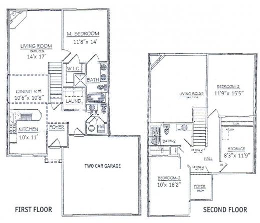 Best 3 Bedroom 2 Story House Plans Medemco 3 Bedroom 2 Floor House Plan Image