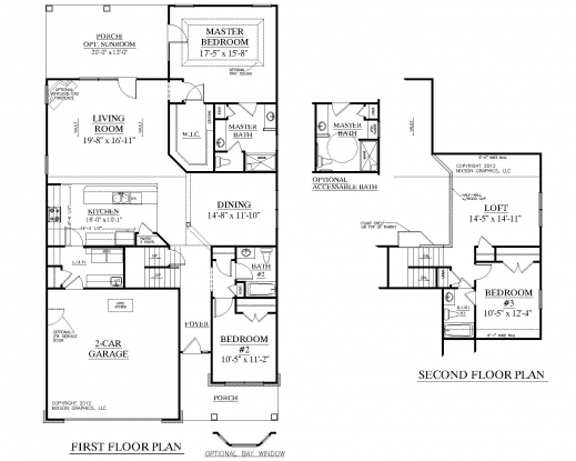 Single Story House Plans 3 Bedrooms - House Floor Plans