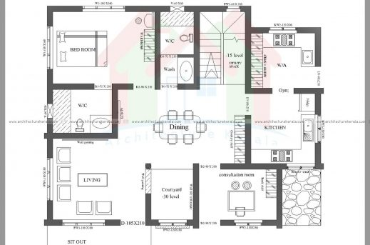 2000 square feet 3 bedroom house plan and elevation for 2000 sq ft house plans