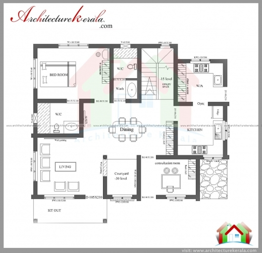 2000 square feet 3 bedroom house plan and elevation for Best 2000 sq ft home design