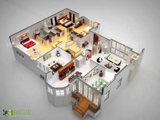Fantastic 3d Luxurious Residential Floor Plan Ruturaj Desai Digital Artist Residential Floor Plan Images