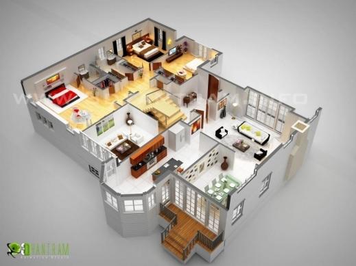 Fantastic 3d Luxurious Residential Floor Plan Ruturaj Desai Digital Artist Residential Floor Plan Images
