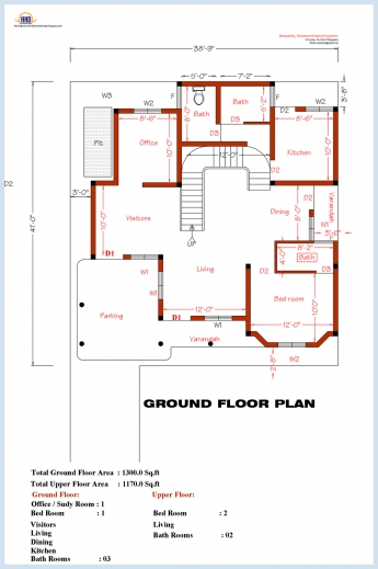 3bedroom floor plan in nigeria house floor plans - Detailed three bedroom flat ...