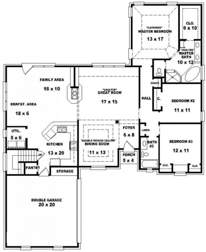 Fantastic House Plans 3 Bedroom 2 Bath Medemco 3 Bedroom 2 Floor House Plan Picture