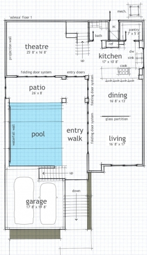 Fantastic house plans with indoor swimming pool paperistic for Swimming pool floor plan
