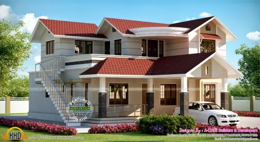 Fantastic March 2015 Kerala Home Design And Floor Plans 700sqft Kerala Traditional House Plan With Staircase Poojamuri Pics