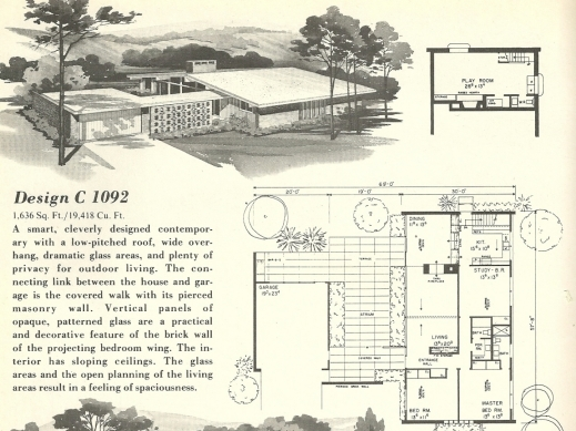 Fantastic Mid Century House Plans Medemco House Plans Mid Century modern Image