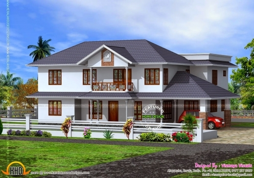 700sqft kerala traditional house plan with staircase for Kerala traditional home plans with photos
