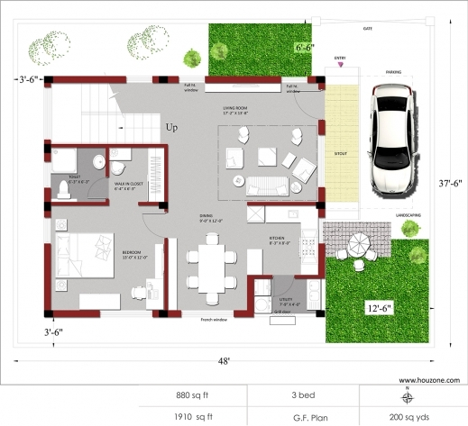 Fascinating Indian House Plans For 1500 Square Feet Houzone 1500 Sq Ft House Plans India Picture