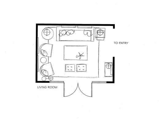 Fascinating Transitional Family Room Floor Plan Urnhome Living Room And A Bedroom Floor Plan Images