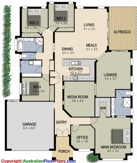 Gorgeous 4 Bedroom House Plans Ryanromeodesign 4 Bedrooms House Plans Images