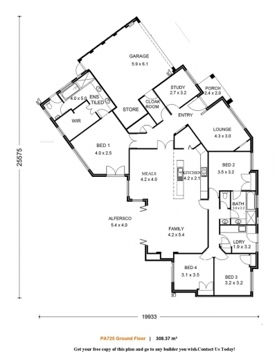 Architecture house plans single storey house floor plans - Modern one story house plans ...