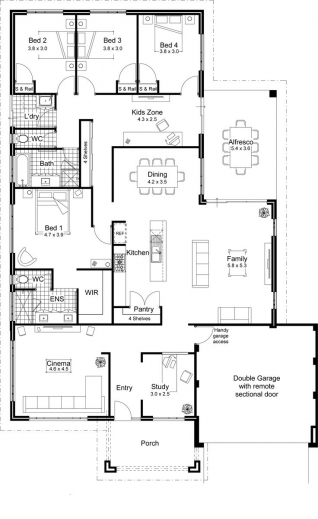 Gorgeous Home Design Bedroom House Floor Plans Bedroom Single Story House Home Designs Floor Plans Pictures