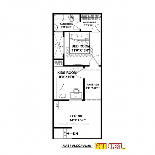 House Plan For 33 Feet By 40 Feet Plot Plot Size 147: Wonderful House Plan For 15 Feet 50 Feet Plot Plot Size 83