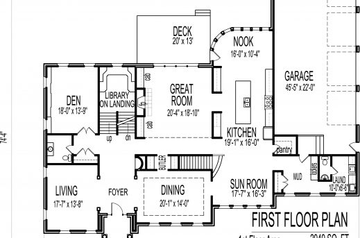 Gorgeous Large House Plans Colonial Style 4 Car Garage 6000 Sq Ft Million 4 Garages Floor Plan Pics