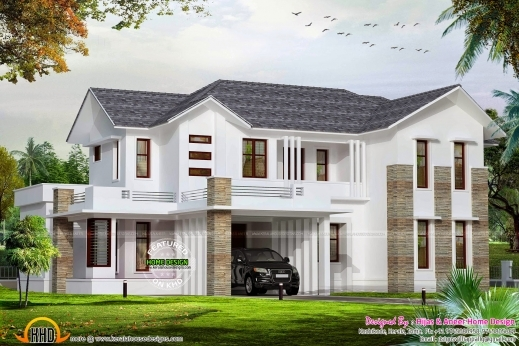 Gorgeous March 2015 Kerala Home Design And Floor Plans 700sqft Kerala Traditional House Plan With Staircase Poojamuri Pics