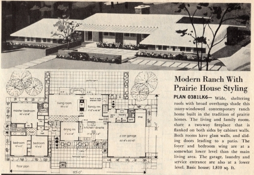 House plans mid century modern house floor plans for Mid century ranch home plans