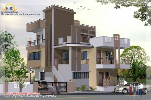 Gorgeous Stylish Home Design Ideas 2d Elevations Modern Houses New Stylish Floor Plan And Elevation Image