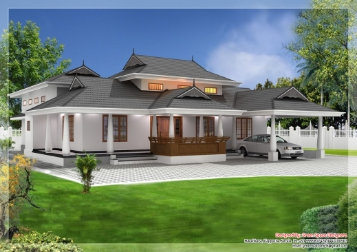 Gorgeous Traditional Style Kerala Home 39naalukettu39 With Nadumuttom Traditional Kerala House Plan Image