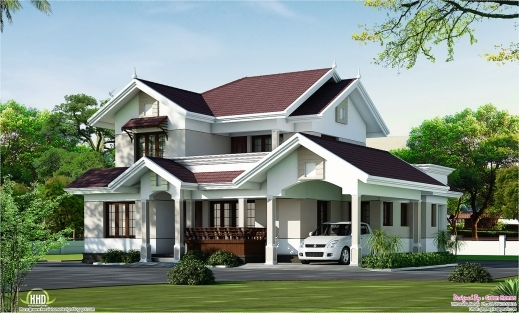 Gorgeous Villa Elevation In 2000 Sqfeet Kerala Home Design And Floor Plans Ghana Elevation House Plan Pic