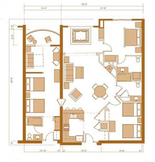 Incredible 3 Bedroom Flat Design More Floor Plans Floorqueen Scoops 3bedroom Floor Plan In Nigeria Picture
