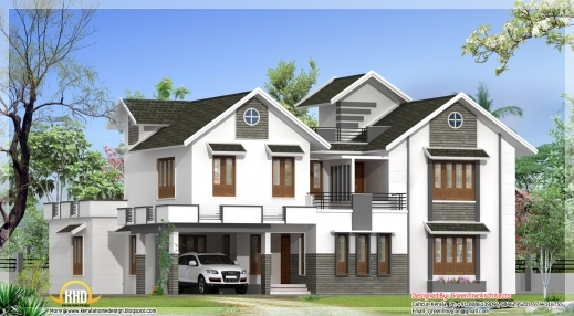 Incredible 4 Bedroom Plan And Elevation Kerala Home Keralahousedesigns Modern Kerala Style House Plans With Photos Picture
