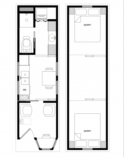 Incredible Sample Floor Plans For The 8x28 Coastal Cottage Tiny House Design Tiny House Floor Plans Images