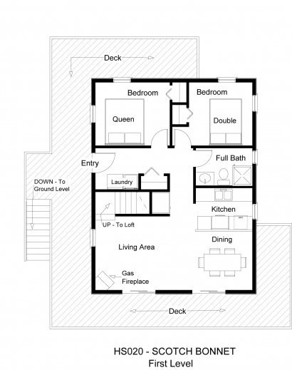 Simple one story 2 bedroom house plans for Simple one level house plans