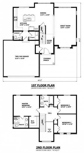 Incredible Two Bedroom Double Story House Plans Storey Plan Damis Pole Barn Simple Double Storey House Plans Pic
