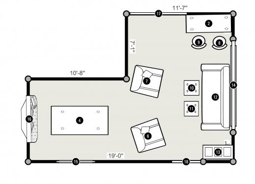 Inspiring 25 More 3 Bedroom 3d Floor Plans 2 Iranews Living Room And A Bedroom Floor Plan Picture
