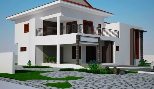 Inspiring 3 4 5 6 Bedroom House Plans In Ghana Ghanaian Architects Ghana Elevation House Plan Pictures
