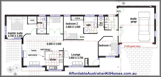 Inspiring 4 Bedroom House Plans Kit Homes Australian Kit Homes Steel 3 Bedroom House Plan Co Au Image