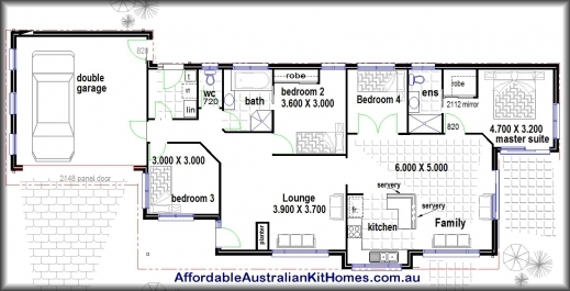 Inspiring 4 Bedroom House Plans Kit Homes Australian Kit Homes Steel 3 Bedroom House Plan Co Au Images