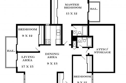 Inspiring Floor Plans Apartment And Apartments Pinterest Three Bedroom Flat 3bedroom Floor Plan In Nigeria Images