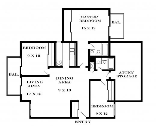 Fascinating 3 bedroom flat floor plan small house plans - 3 bedroom floor plan with dimensions pdf ...