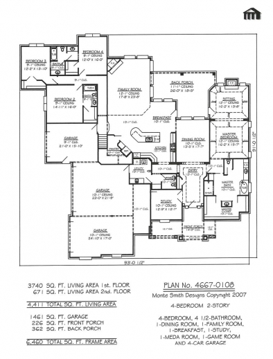 Inspiring Garage 4 Bedroom House Floor Plans Garage Homes 2 Bedroom House 4 Garages Floor Plan Photo