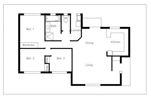 Inspiring How To Make House Plans On Autocad Arts House Plan In Autocad 2d Image
