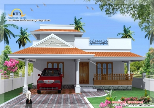elevation inspiring kerala style single floor house plan 139 square meters 1500 sq ft new stylish floor gorgeous stylish home design ideas 2d - 2d House Elevation Designs In